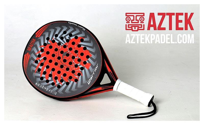 Pala de pádel AZTEK Warrior carbon/rojo