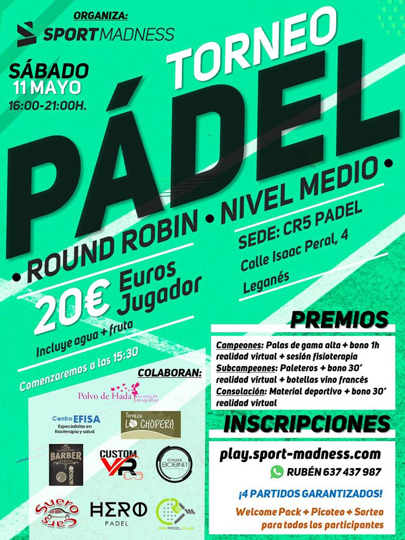 Torneo Express Sportmadness de CR5 Pádel