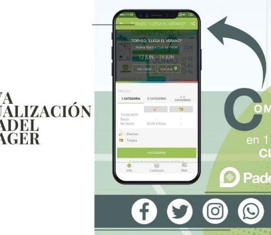 Ya es posible compartir en un solo clic en la app Padel Manager