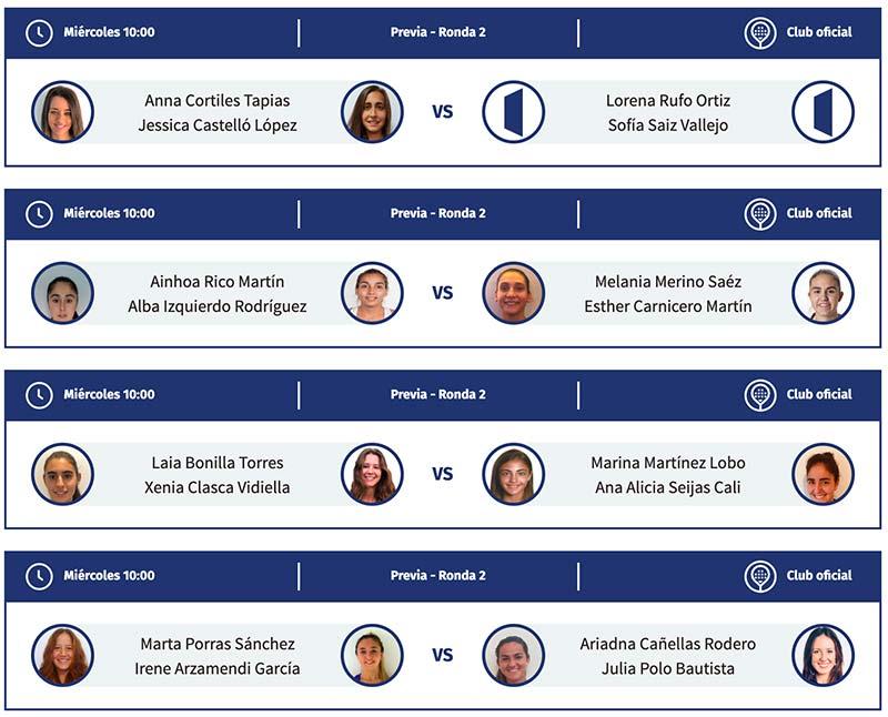 Partidos de la previa final femenina del Valladolid Master