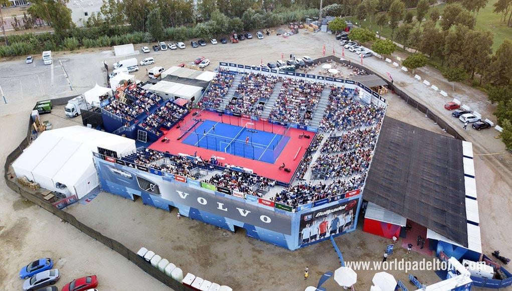 Pista central del Mijas Open situada en el Recinto Ferial de La Cala de Mijas