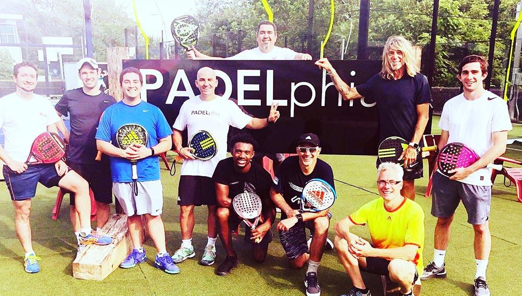 Grupo de jugadores de PADELphia
