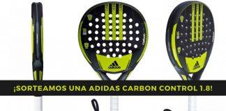 Sorteamos una pala de pádel Adidas Carbon Control 1.8