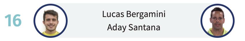 Lucas Bergamini y Aday Santana