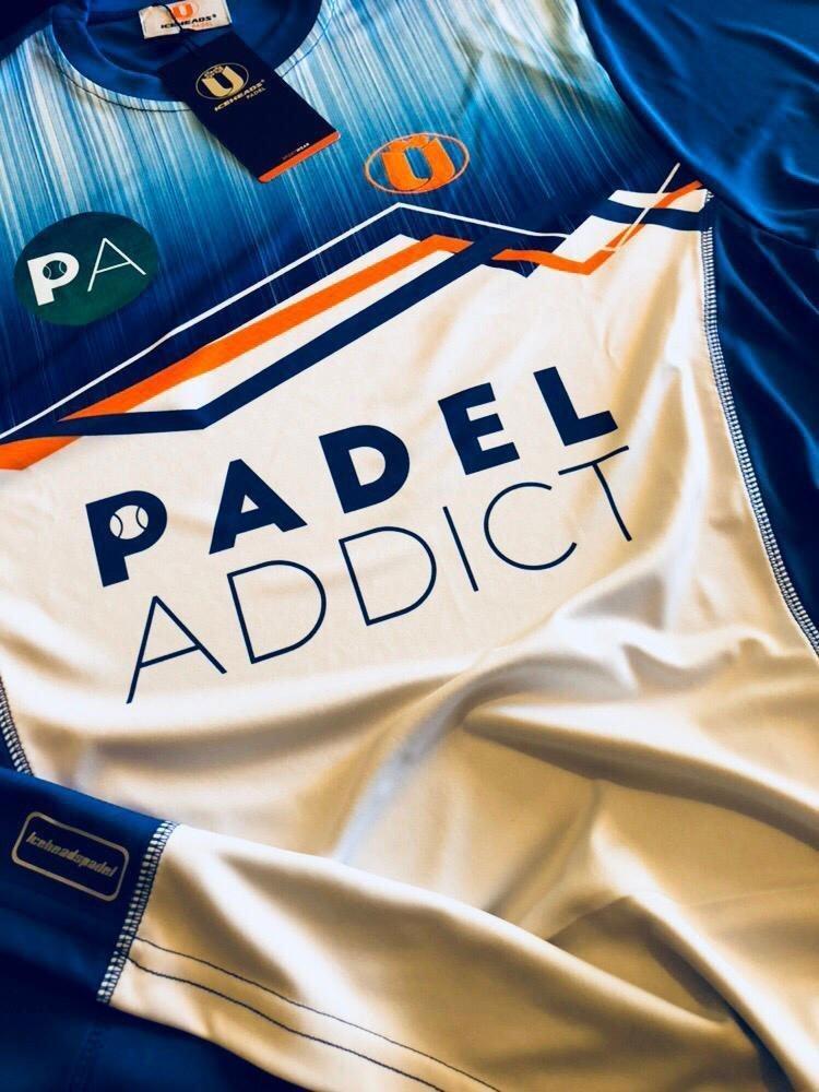 camiseta oficial Padel Addict en colaboración con Iceaheads Padel