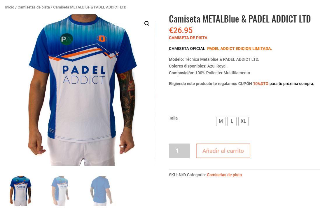 ¿Dónde puedes comprar la camiseta oficial de Padel Addict?