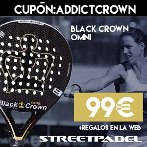Llévate con Padel Addict y Streetpadel la BLACK CROWN OMNI a tan solo 99€ (+ regalos de la web) Cupón: ADDICTCROWN