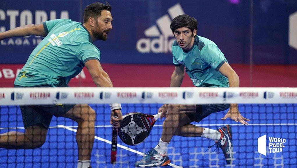 Matias Díaz y Franco Stupaczuk en su duelo de semifinales del Córdoba Open