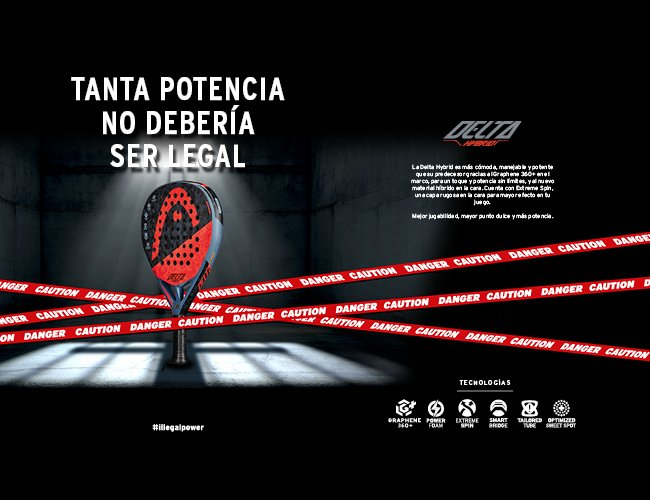 HEAD Graphene 360+ Delta Hybrid: ¡Tanta potencia no debería ser legal!