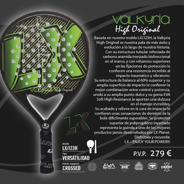 Ficha técnica de la LX Planet Valkyria High Aramid