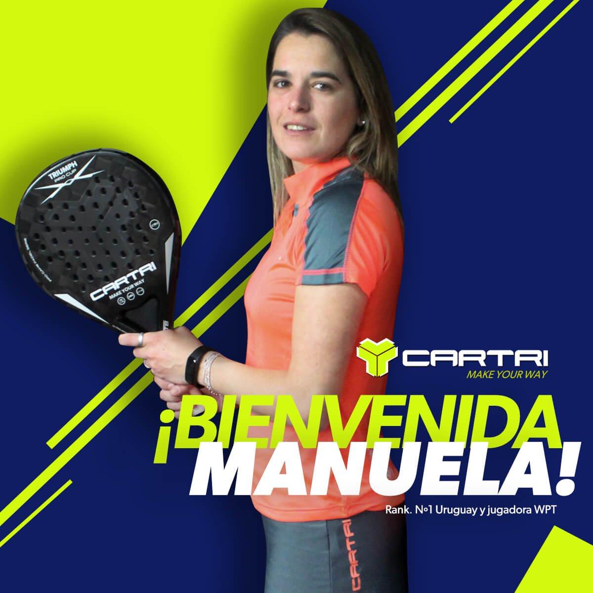 Manuela Alaga firma por Cartri
