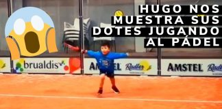 HUGO con 5 años demuestra sus dotes jugando al PÁDEL