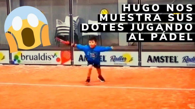 ¡Qué nivelazo! Con 5 años y Hugo ya tiene esta soltura jugando al pádel