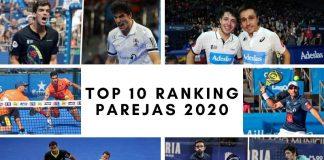 ¿Quienes ocuparán las 10 primeras posiciones del ranking por parejas de 2020?