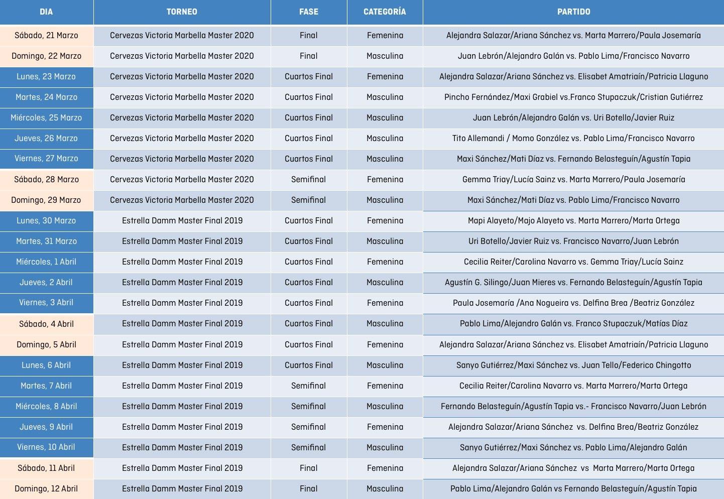 Estos son los partidos que retransmitirá GOL desde este próximo sábado