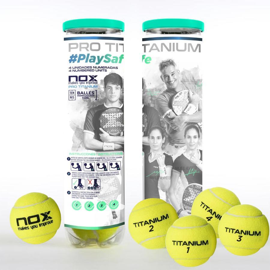 ¿Cómo son las pelotas Nox Pro Titanium PlaySafe?