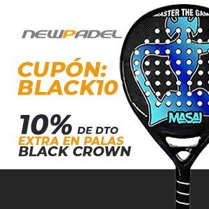 10% de descuento extra en palas Black Crown en www.newpadel.net