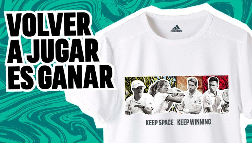 adidas padel celebra la vuelta a las pistas regalando la primera camiseta con un diseño exclusivo de sus jugadores