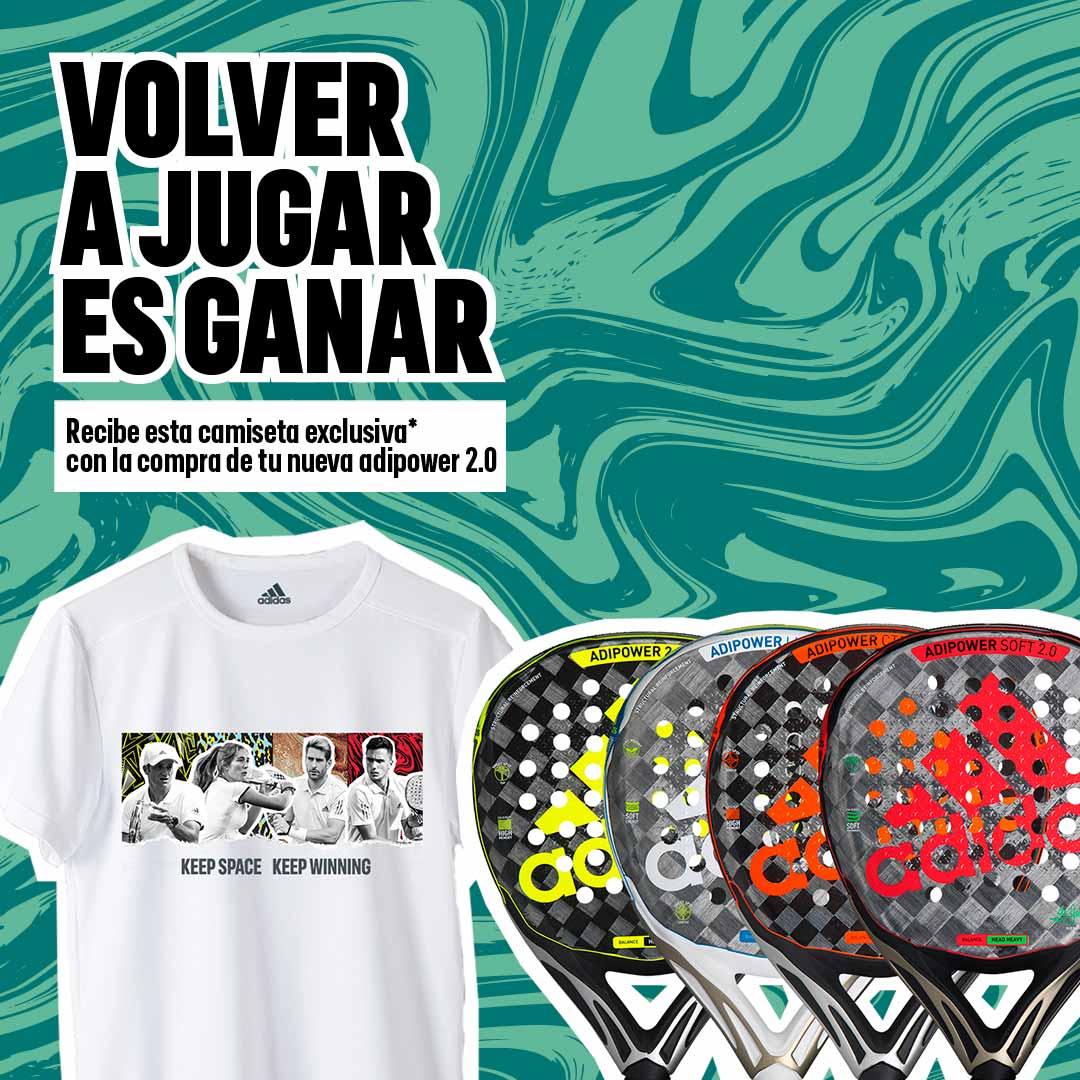 Así es la camiseta exclusiva de adidas padel por la compra de una de sus palas adipower 2020