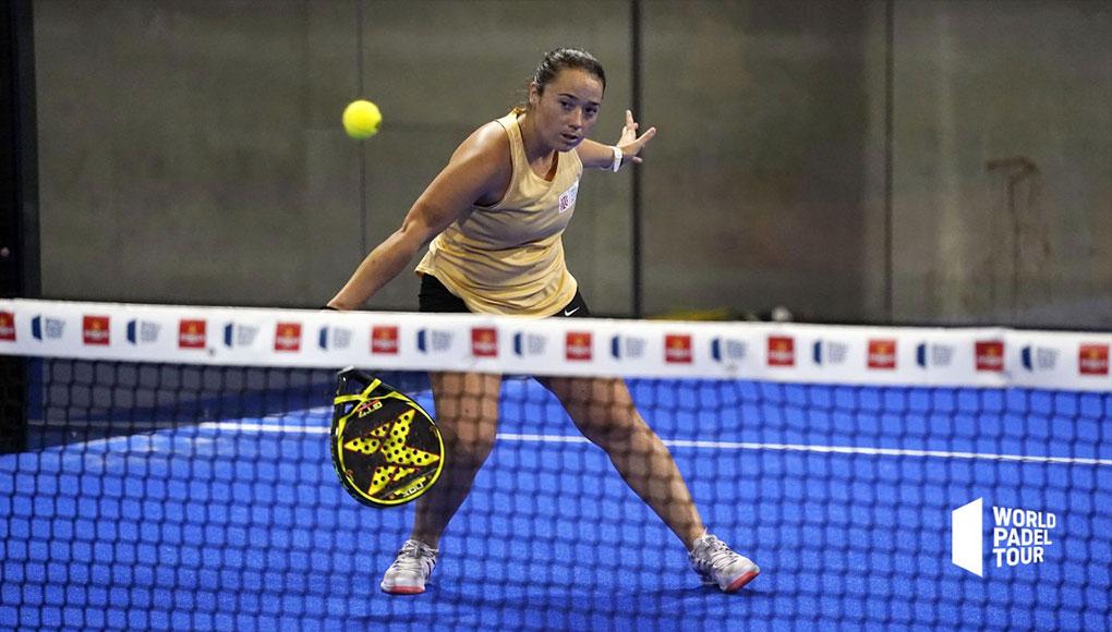 Carla Tur durante el Estrella Damm Open