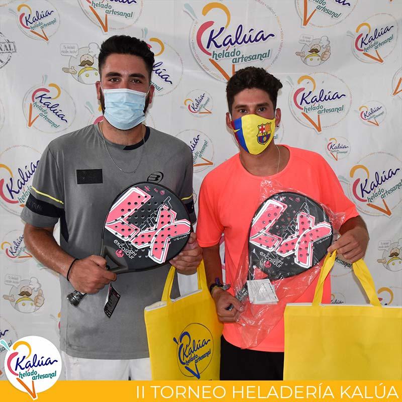 Kiko Alonso y Emilio Caracuel, ganadores de 3ª categoría en el II Torneo Heladería Kalúa
