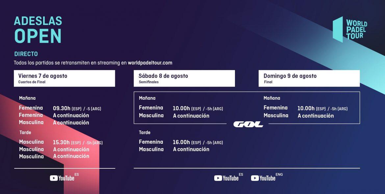 Streaming del Adeslas Open 2020: cuándo y dónde ver las retransmisiones
