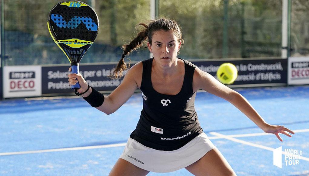 Barbara Las Heras en la final de la previa del Menorca Open