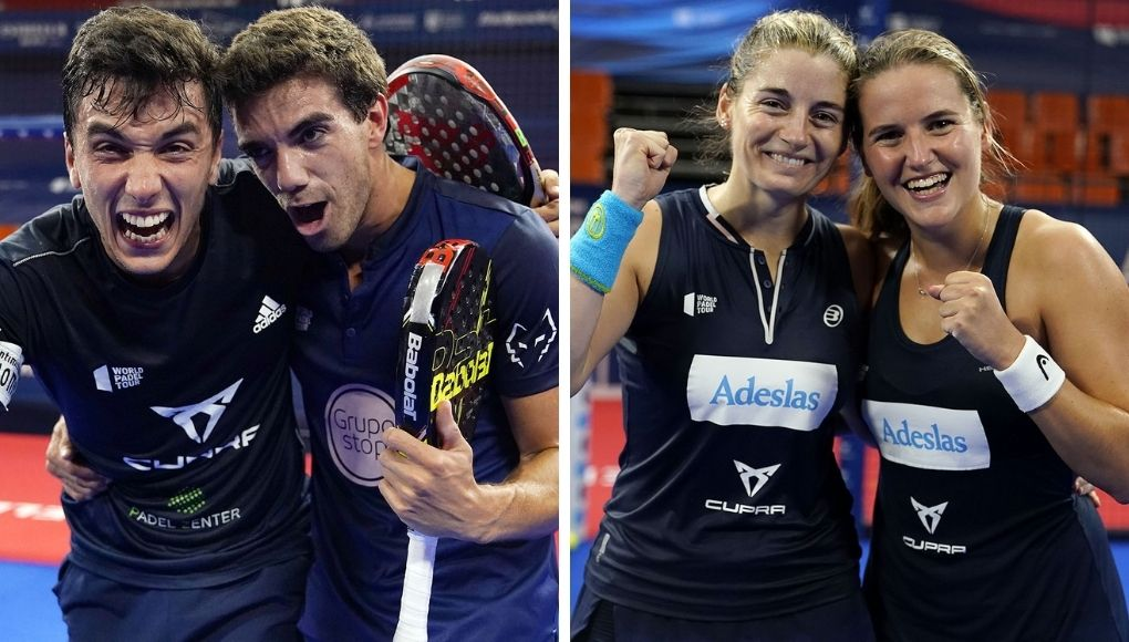 Galán - Lebrón y Salazar - Sánchez ganan las finales del Estrella Damm Valencia Open