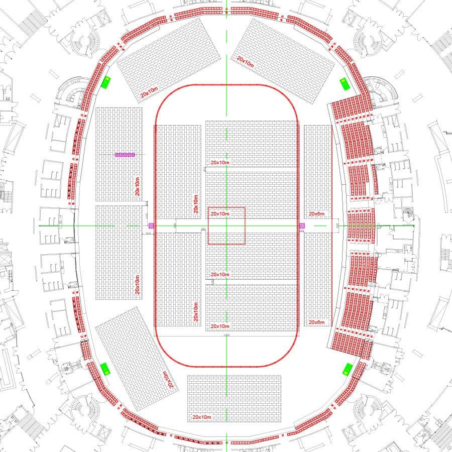 Así será la distribución de pistas de pádel en Globen Padel