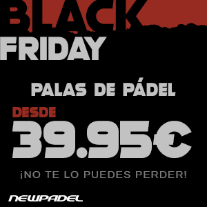 Palas de pádel desde 39,95€ este Black Friday en Newpadel . ¡No te lo puedes perder!