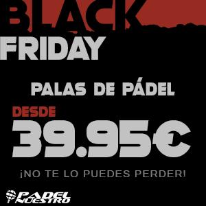 Palas de pádel desde 39,95€ este Black Friday en Padel Nuestro . ¡No te lo puedes perder!