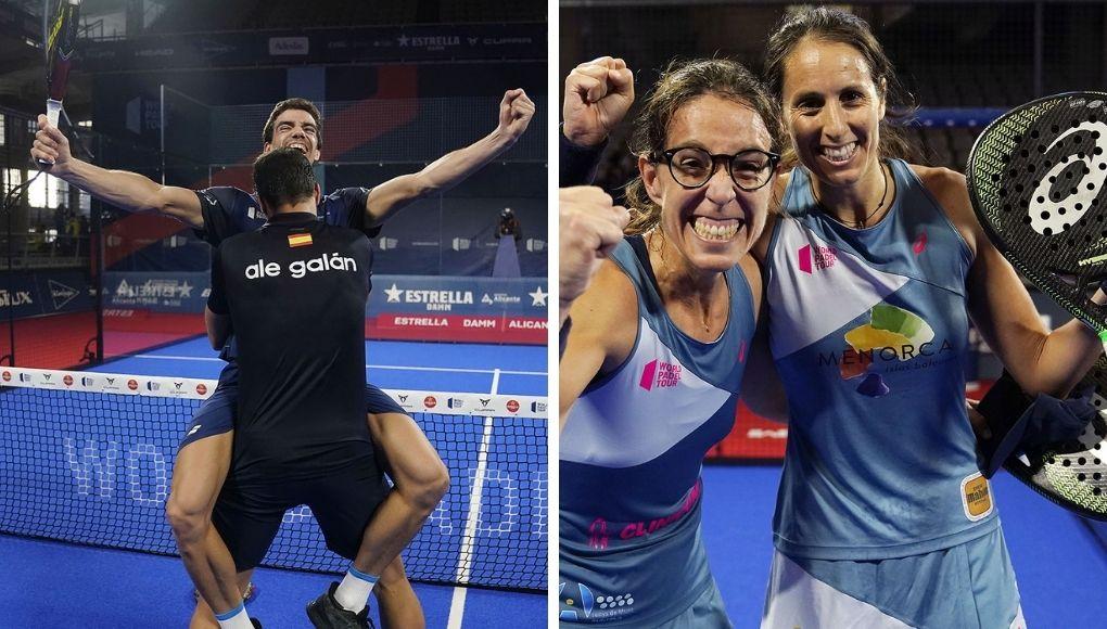 Finales del Alicante Open 2020: Galán - Lebrón y Triay - Sainz conquistan el torneo