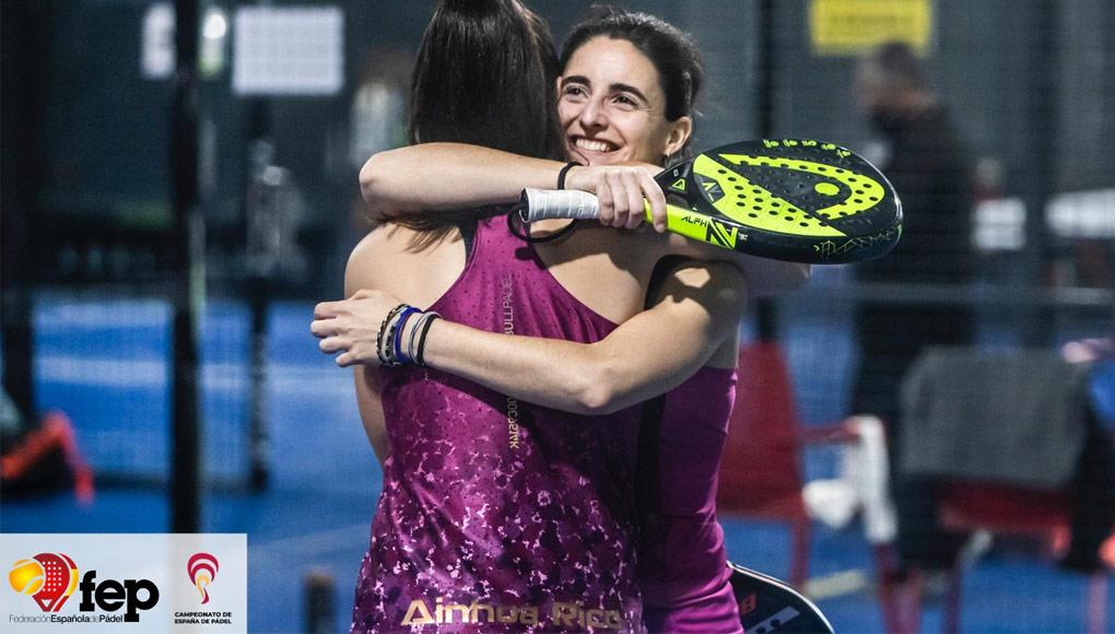 Ainhora Rico y Marina Pinacho sellaron su clasificación de la previa del Campeonato de España de Pádel