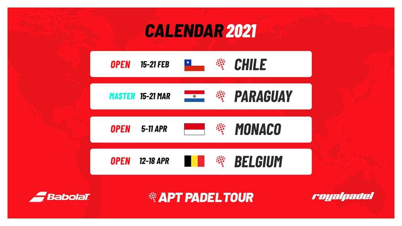 Primeras pruebas del APT Padel Tour de 2021