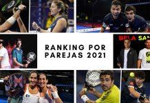 ¿Qué parejas ocupan las primeras posiciones en el World Padel Tour 2021?