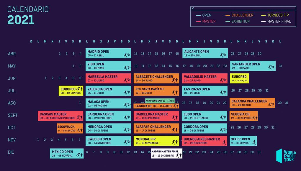 ¡Oficial! Así es el calendario World Padel Tour 2021