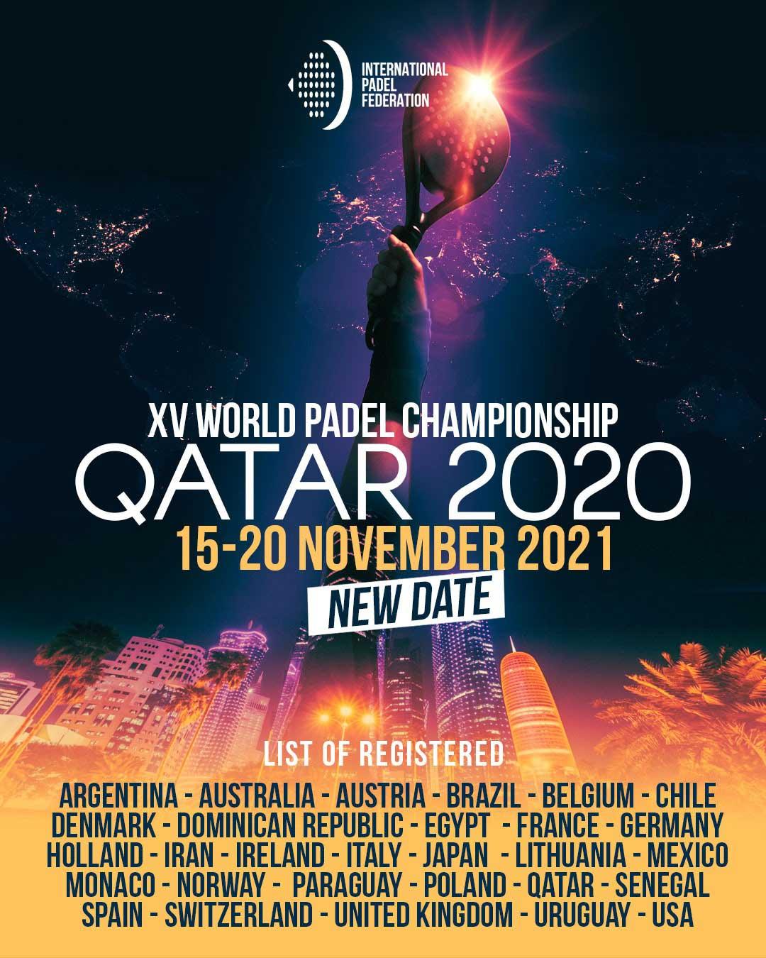 Cartel del XV Campeonato Mundial de Pádel