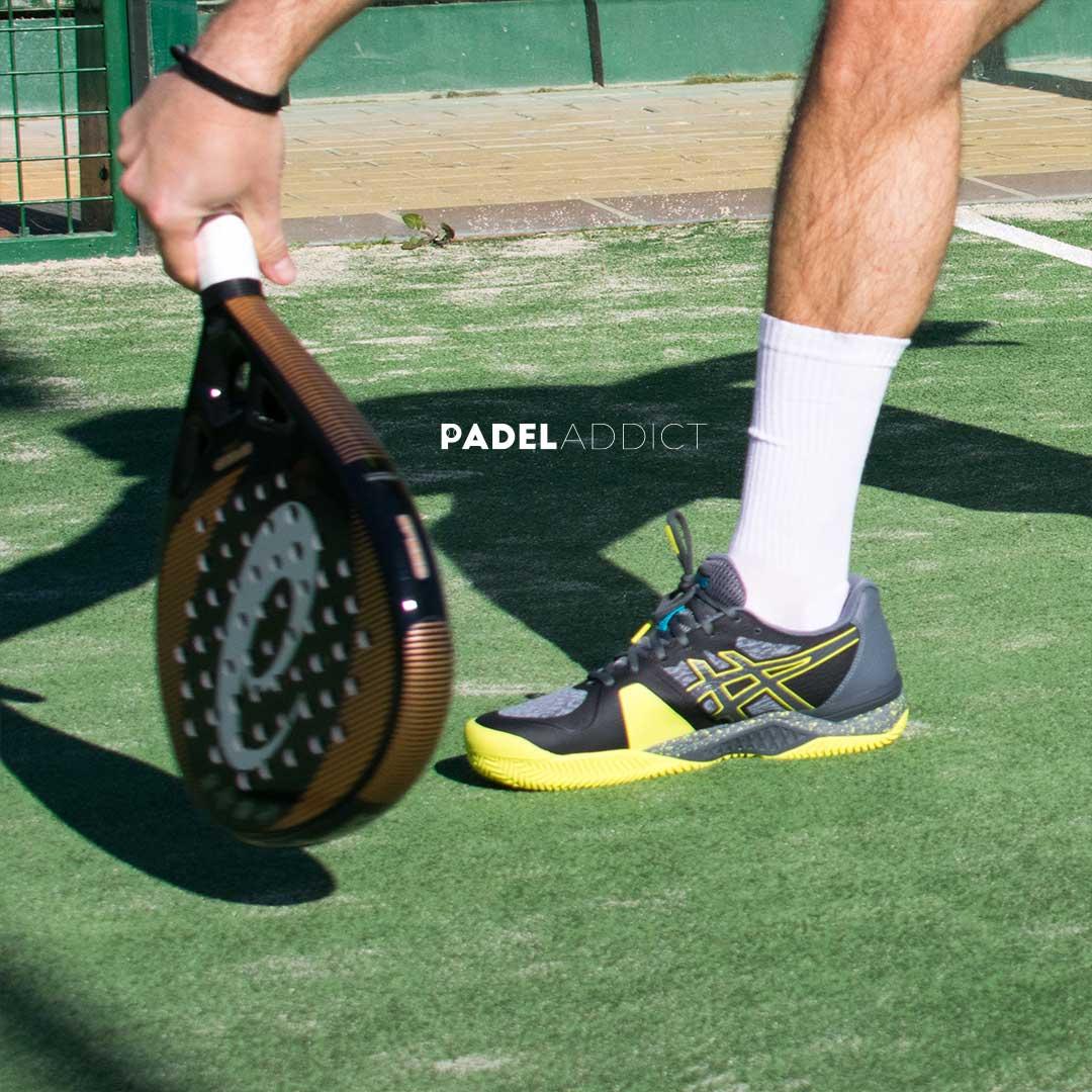 En la puntera de las zapatillas Gel-Padel Ultimate han aplicado el protector PGUARD™ lo que permite realizar movimientos más suaves y reduce el nivel general de desgaste.