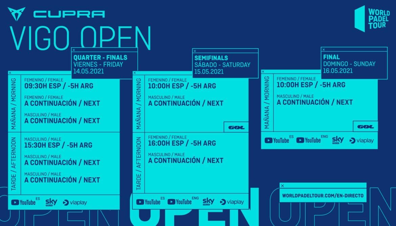 Horarios del streaming del Vigo Open 2021