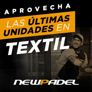 Aprovecha las últimas unidades en textil...¡En NewPadel!