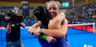 Patty Llaguno and Virginia Riera touch the sky in Vigo!