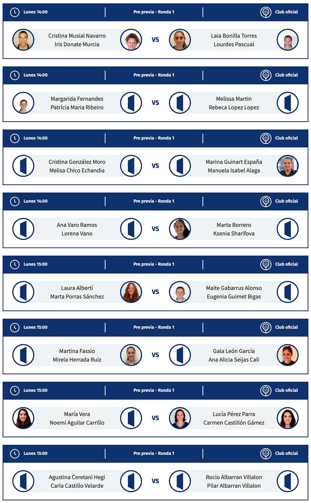 Primera ronda de la pre previa femenina del Santander Open 2021