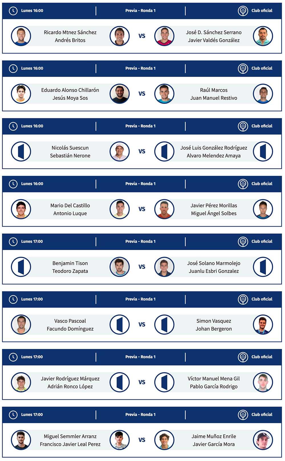 Primera ronda de la previa masculina del Santander Open 2021