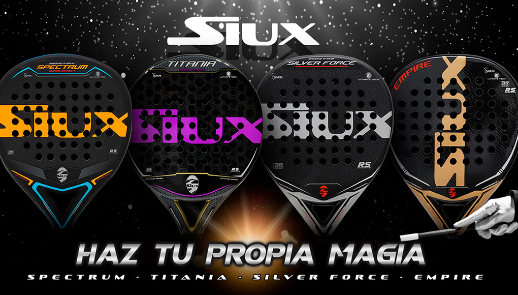 Siux launches four new blades of pádel