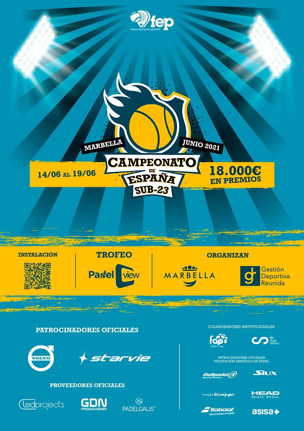 Cartel del Campeonato de España Sub-23
