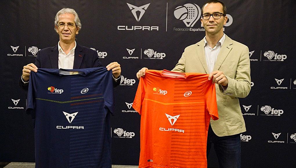 CUPRA tendrá presencia en las equipaciones de la Selección Española de Pádel