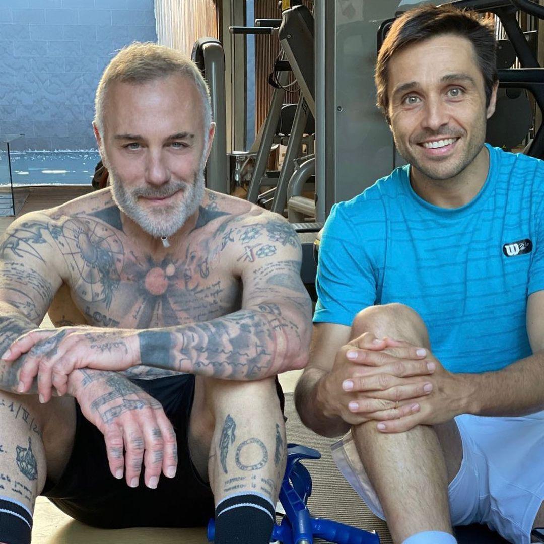 Fernando Belasteguín ha estado recuperándose de su lesión en casa de su amigo Gianluca Vacchi