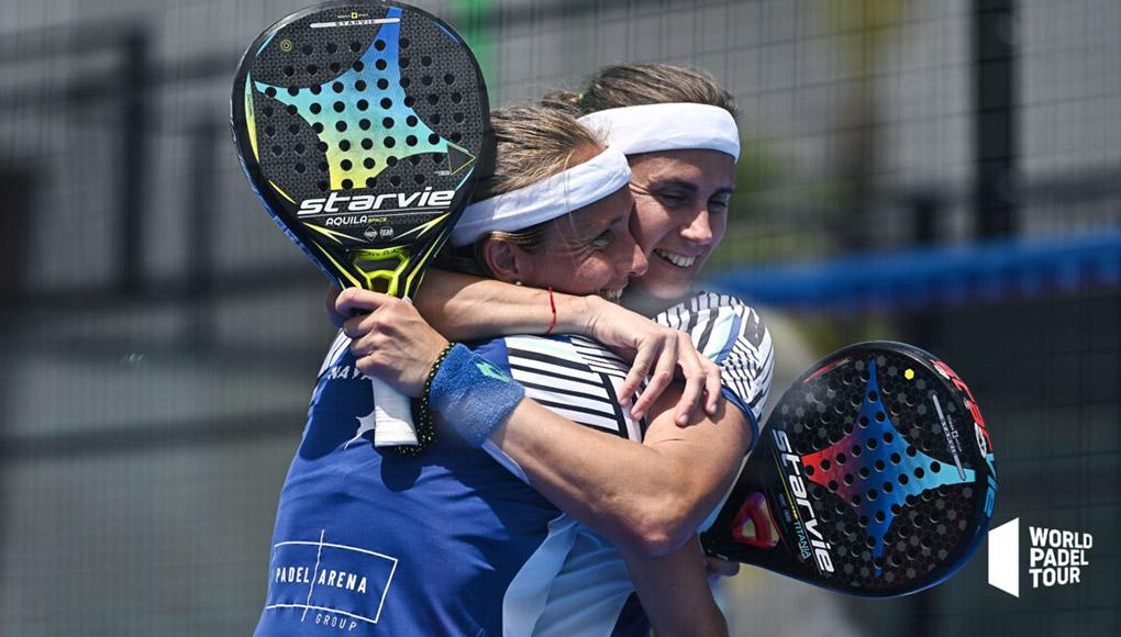 Carolina Navarro y Ceci Reiter, a cuartos con remontada