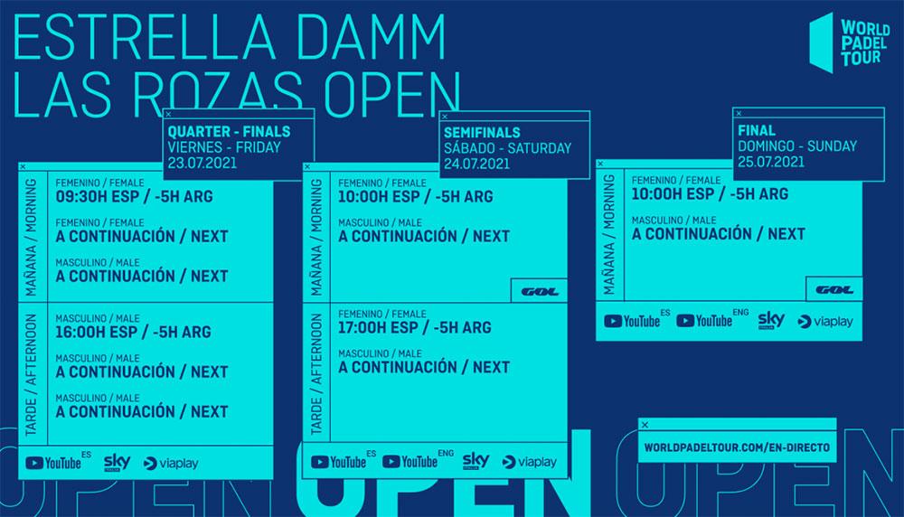 Guía televisiva de Las Rozas Open 2021: retransmisiones y horarios